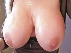 Naughty Allie Titty Fuck While On The Phone