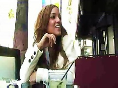 Melanie Rios Gives A Bit Of  View Under The Cafe