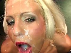 Needy Blondes Enjoying Creamy Jizz