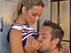 Alluring Cheerleader With Big Natural Tits Getting Fucked In The Locker Room