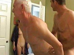 Old Man Slim Girl Bisex
