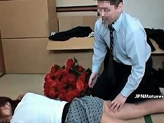 Sexy Asian Slut Gets Her Legs Rubbed