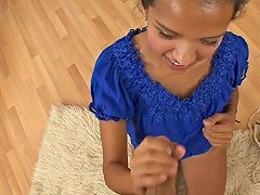 Naughty Latina Teen Jessica Albarez Pleasing A Dick In Pov Blowjob Vid