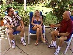 A Sexy, Blonde Pornstar Enjoying A Mind-blowing Threesome Fuck