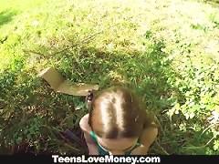 Teenslovemoney Busty Molly Jane Fucks Outside For Cash