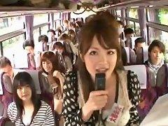 Crazy Asian Girls Have Hot Bus Tour