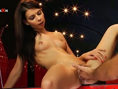 Betty Saint The Slim And Sexy Brunette Likes Vaginal Fisting