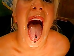 Amazing Blonde Fucked And Covered In Jizz