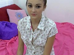 Teen Honey Takes Off Her Hotpants And Masturbates Solo