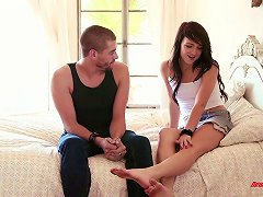 Flat Chested Bitch Carmen Callaway Sucks And Gets Her Slit Creampied