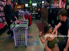 Delicious Naked Brunette Public Shop Sex