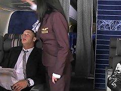 Assfucked Cfnm Stewardess Joins Milehigh Club