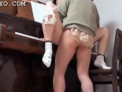 Asian Schoolgirl Pussy Banged Hard Over The Piano Porn Videos