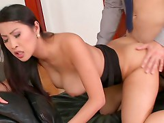 Busty Asian Gets Pumped And Made To Swallow