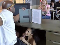 Classroom Interracial Pleasures For Slutty Young Tia Cyrus