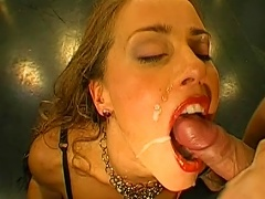 Red-lisped Swallows A Big Load Of Sperm