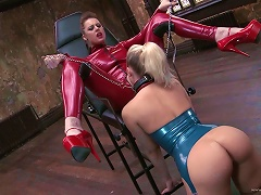 Sexy Blondes Please One Another In A Hot Clip