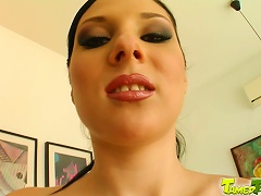 Nicole E Gets A Mouthful Of Cum After Satisfying Two Men