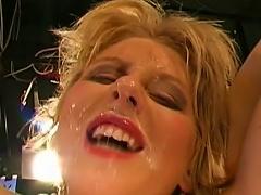 Blondie Gets Nailed In Dirty Gang Bang
