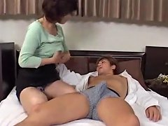 Japanese Milf Seduces Young Man Uncensored