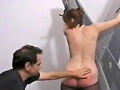 Ass In Black Pantyhose Spanked Hard