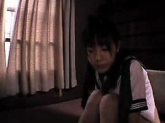 Pigtailed Oriental Teen Gets Fucked With A Dildo And Blows