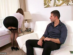 He Fucks The Ass Of A Beautiful Girl And Cums In Her Mouth
