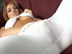 Foxy Redhead Milf With Big Knockers Morgan Reigns Mounting Cock