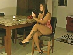 Lexxy Smoking Hot Latina Milf Fucks With A Black Stud