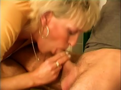 In Mouth Is What This Mature Blonde Adores To Feel