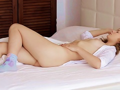 Curly Babe Ksenija A Is  After Waking Up