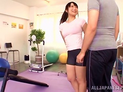 Cute Asian With Slim Body Gets Screwed In The Gym By Her Trainer