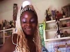 Ebony With Blond Braids