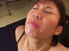 Asian  Getting Creamed Well