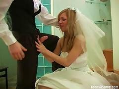 Teen Bride In Wedding Day Threesome
