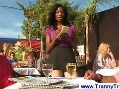 Black Transsexual Waitress Seduces