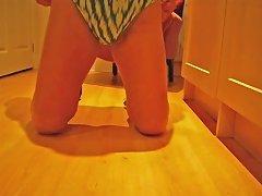 Cum Swimsuit High Heels