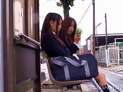 Japanese Teens Are Fucked By Masked Guys In Public Train